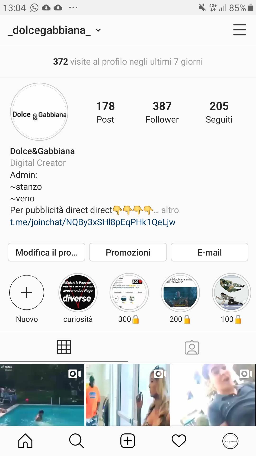 Sponzorizzazzioni reciproche (gratuite) su instagram