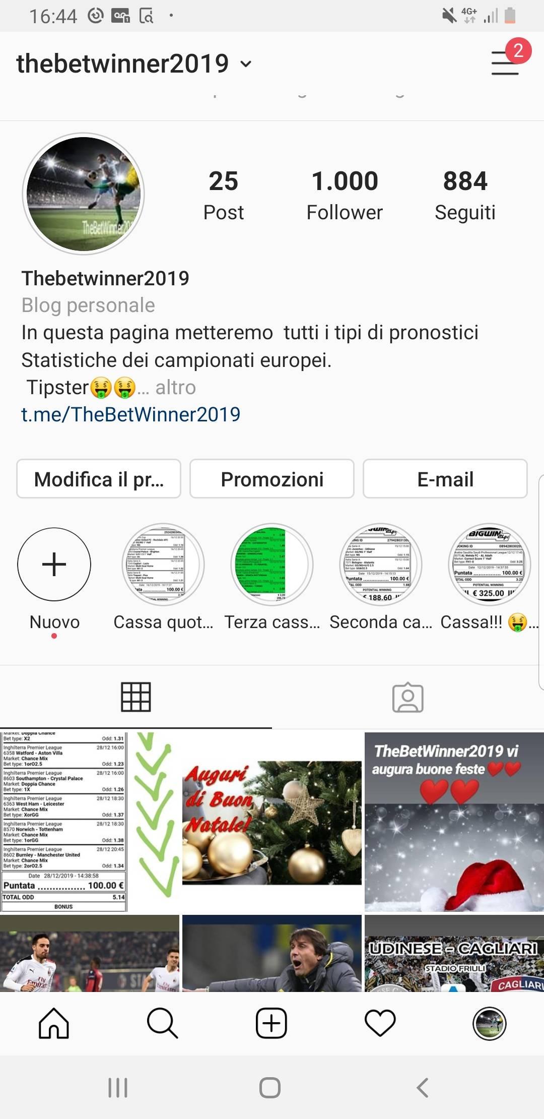 Cerco pubblicità su instagram